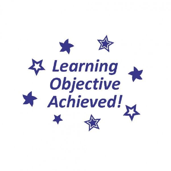 Teachers' Motivation Stamp - LEARNING OBJECTIVE ACHIEVED