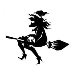 Trodat Printy 4921 - S-Printy - Stock Stamp - Halloween- Witch on broom
