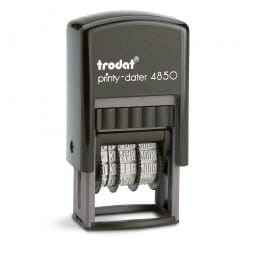 "Trodat Printy Dater 4850 3/16"" x 1"" - 1 line + date"