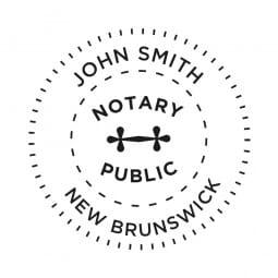 Nouveau-Brunswick Canada Tampon de notaire - 1 5/8'' diamètre