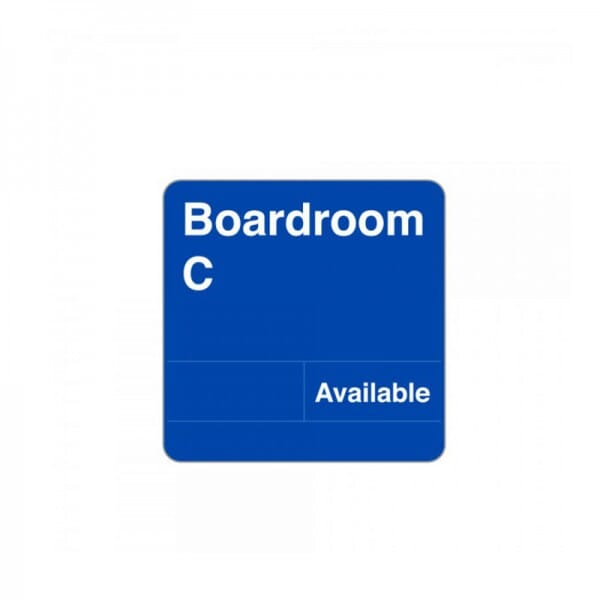 "Deluxe Slider Boardroom Sign 8"" x 8"""