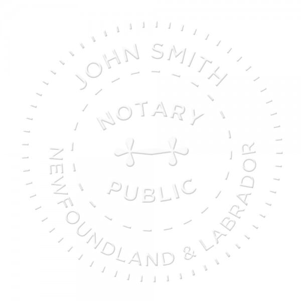 Newfoundland & Labrador Canada Notary seal - 1 5/8'' diameter