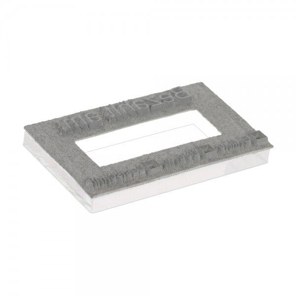 """Textplate for Trodat Printy Dater 4727 1 9/16"""" x 2 3/8"""" - 3+3 lines"""