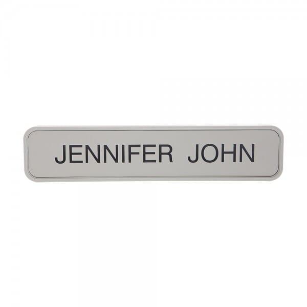 "Custom Engraved Sign/Wall Holder Complete- Designer 2"" x 10"""
