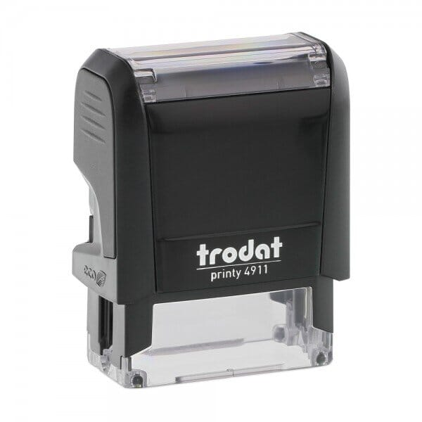 Trodat Printy 4911 - Stock Stamp - Wedding Rings in heart