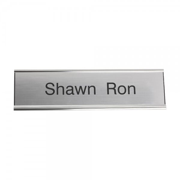 "Custom Engraved Sign/Desk Holder Complete- Traditional 2"" x 8"""