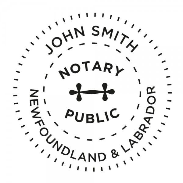 Newfoundland & Labrador Canada Notary stamp - 1 5/8'' diameter