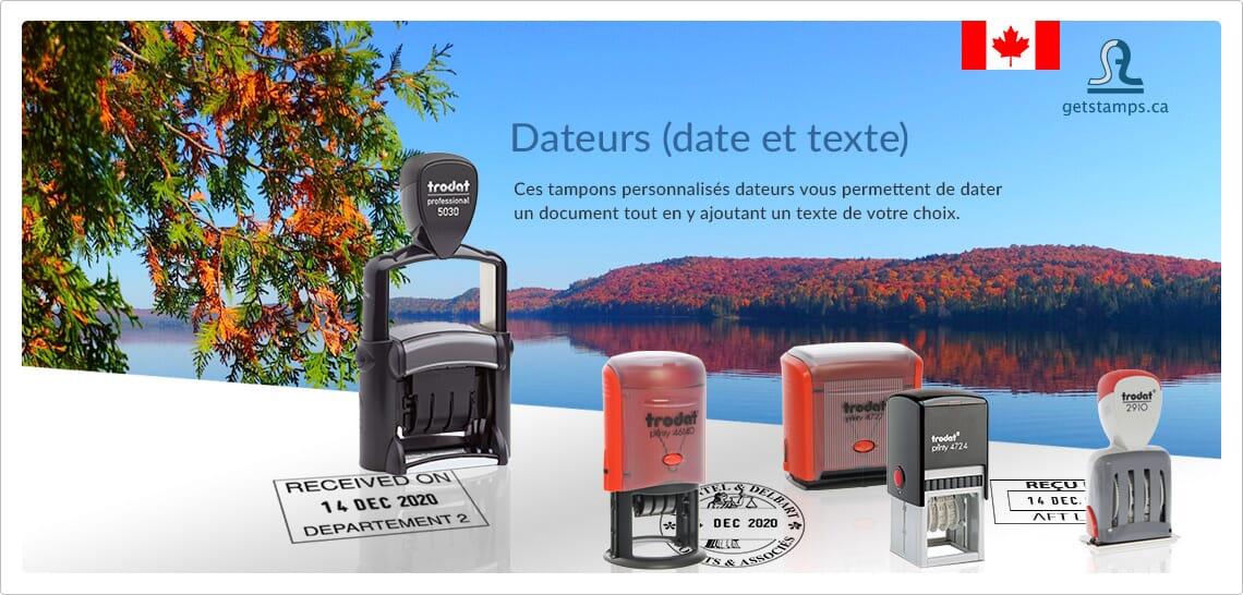 dateurs (date et texte)