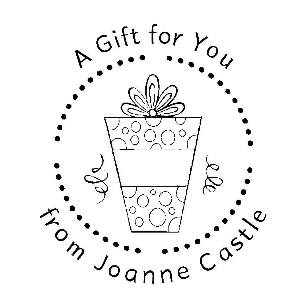 tampon monogramme rond un cadeau pour toi. Black Bedroom Furniture Sets. Home Design Ideas