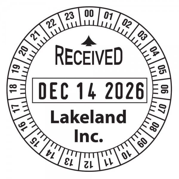 "Trodat Classic 2910 time stamp 24HR 2"" diam. - 2 lines"