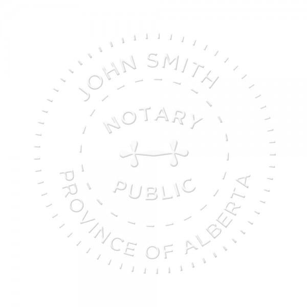 Alberta Canada Notary seal - 1 5/8'' diameter