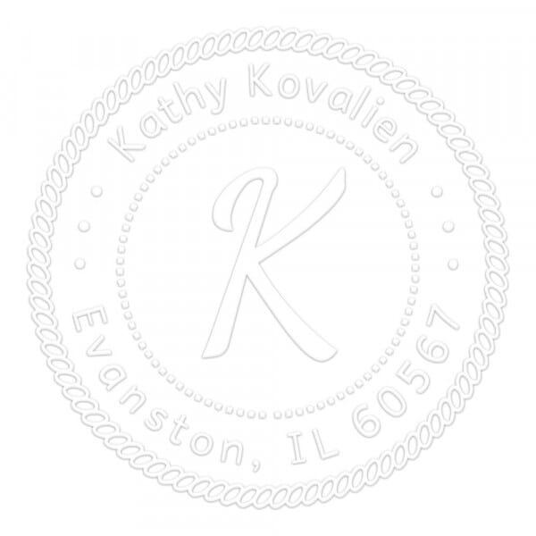 Pince à gaufrer monogramme ronde - Déco maritime