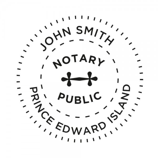 Prince Edward Island Canada Notary stamp - 1 5/8'' diameter