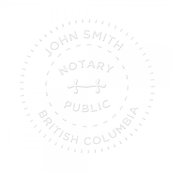 British Columbia Canada Notary seal - 1 5/8'' diameter