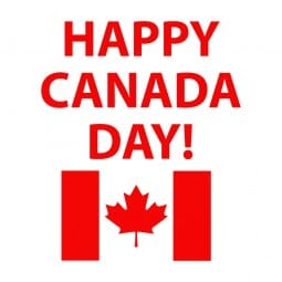Trodat Printy 4921 - S-Printy - Stock Stamp - Canada Day- Happy Canada Day- flag