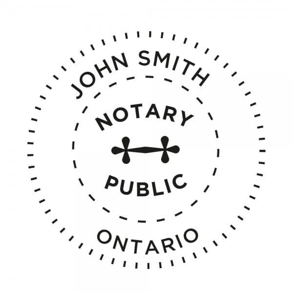 Ontario Canada Notary stamp - 1 5/8'' diameter