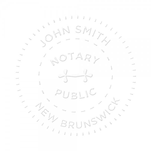 New Brunswick Canada Notary seal - 1 5/8'' diameter