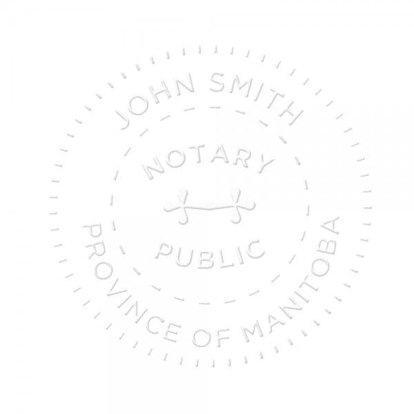 Manitoba Canada Notary seal - 1 5/8'' diameter