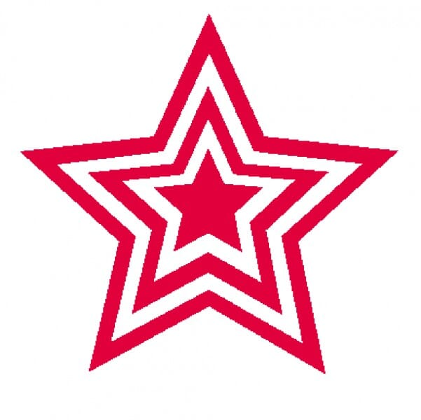 Teachers' Motivation Stamp - Red triple star
