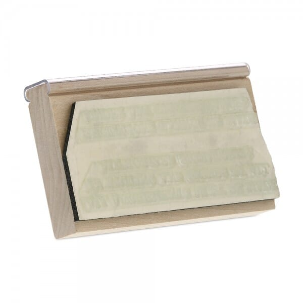 """Rubber Stamp - wood - 1-3/4"""" X 3-3/4"""" up to eight lines"""
