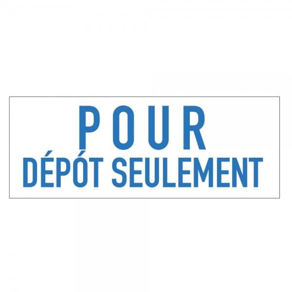 Trodat Printy 4911 Tampon formule - POUR DÉPÔT SEULEMENT