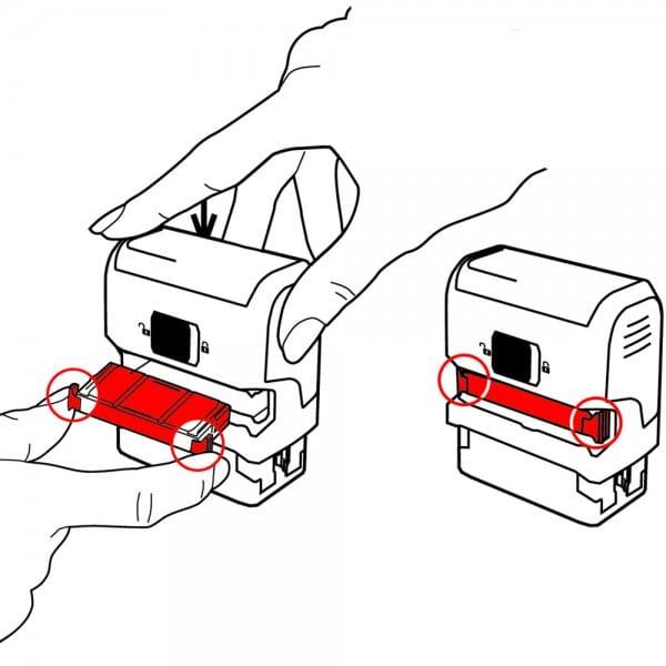 Cassette d'encrage Trodat 6/4912 - emballage de 3