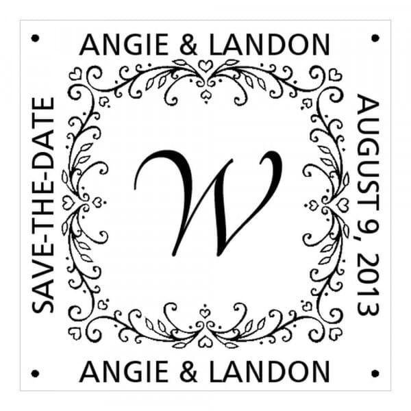 Monogram stamp squared - No  49