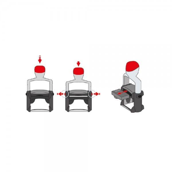 Trodat Replacement Ink Cartridge 6/50 - pack of 3