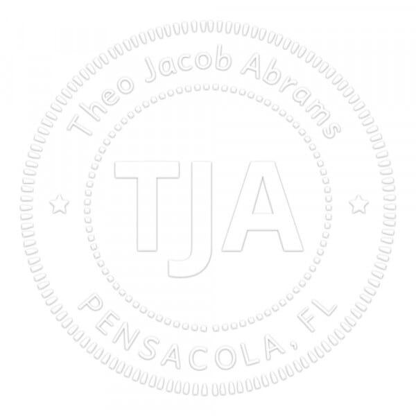 Pince à gaufrer monogramme ronde - Cercles en pointillé