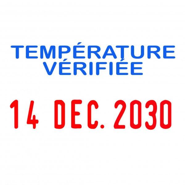 "4850 COVID Date w/message: ""TEMP VERIFEE"""