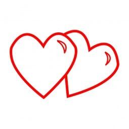Trodat Printy 4921 - S-Printy - Stock Stamp - Valentine- Two hearts