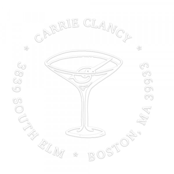 Happy Hour Martini Round Monogram Seal