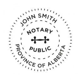 Alberta Canada Notary stamp - 1 5/8'' diameter