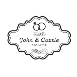 Personalised Trodat Wedding Stamp