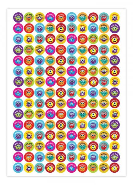 Teacher Stickers- Praise Monster (1,500 pack)
