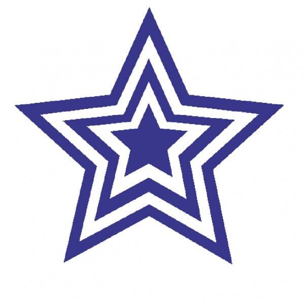 Teachers' Motivation Stamp - Violet triple star
