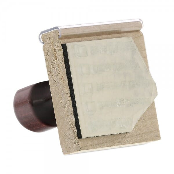 "Rubber Stamp - wood - 1-3/4"" X 1-3/4"" up to eight lines"