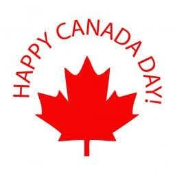 Trodat Printy 4921 - S-Printy - Stock Stamp - Canada Day- Happy Canada Day- Leaf