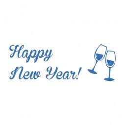 Trodat Printy 4911 - S-Printy - Stock Stamp - Happy New Year- Glasses