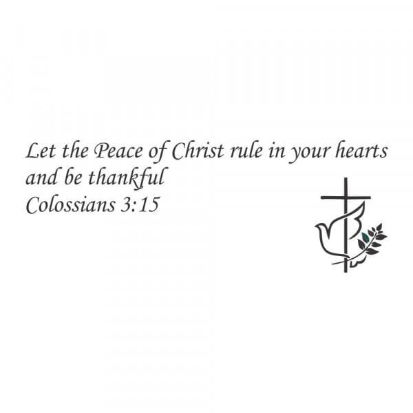 Craft Stamp - Peace of Christ