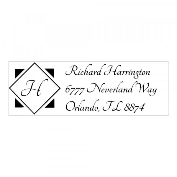 Monogram stamp rectangular - No  6