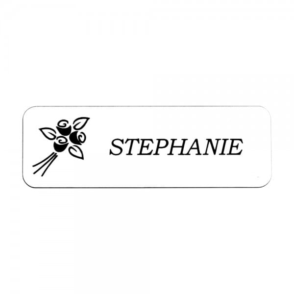 "Custom Sublimated Name Badge- Metal 1"" x 3"""