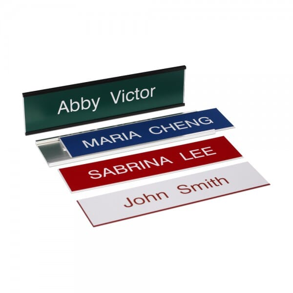 "Custom Engraved Sign/Wall Holder Complete- Traditional 2"" x 8"""
