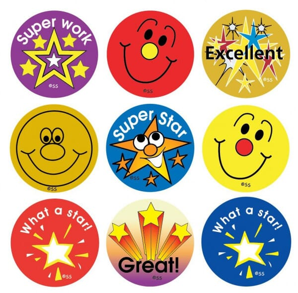 Teacher Stickers- Stars and Smiles (180 pack)