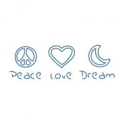 Trodat Printy 4911 - S-Printy - Stock Stamp - Peace Love Dream