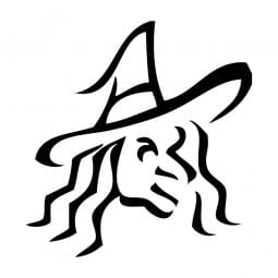 Trodat Printy 4921 - S-Printy - Stock Stamp - Halloween- Witch outline