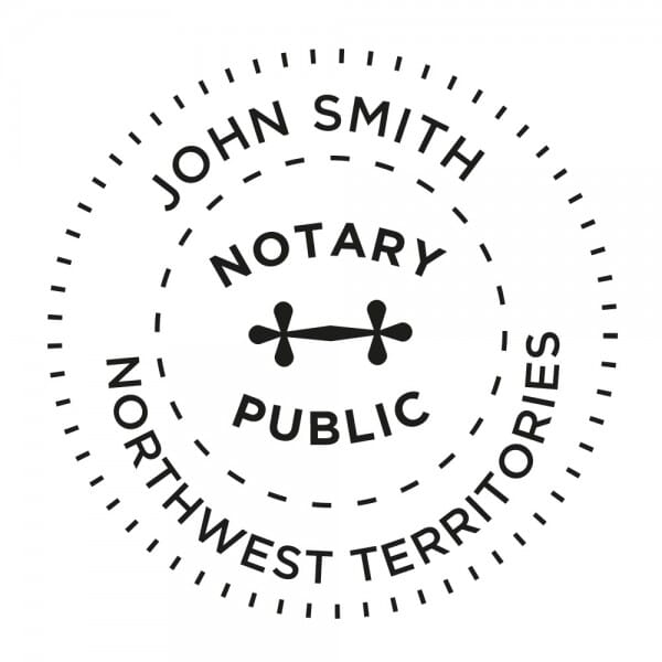 Northwest Territories Canada Notary stamp - 1 5/8'' diameter