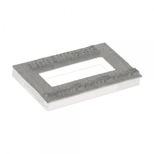 "Textplate for Trodat Professional Numberer 55510PL 1 5/16"" x 2 1/4"" - 2+2 lines"
