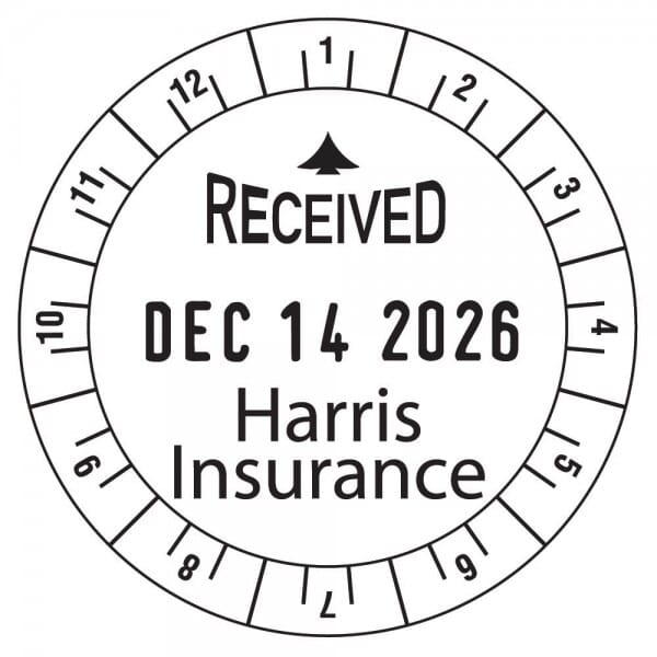 "Trodat Classic 2910 time stamp 12HR 2"" diam. - 2 lines"