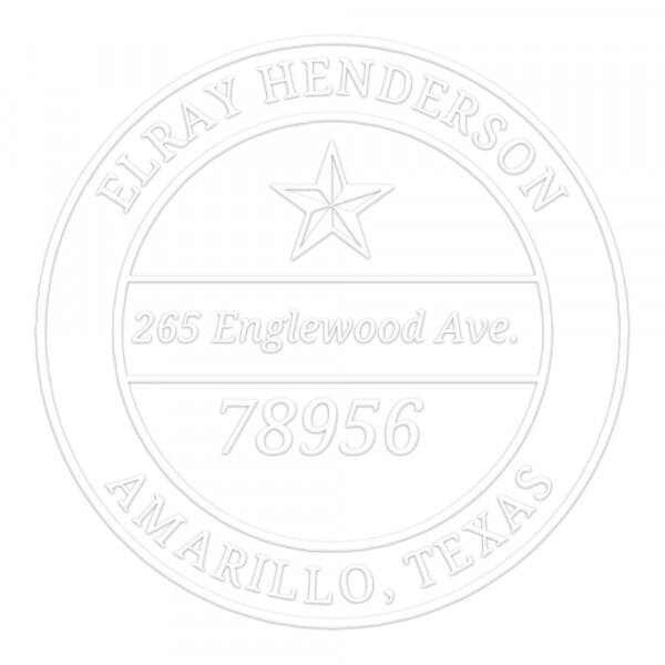 Lone Star Round Monogram Seal